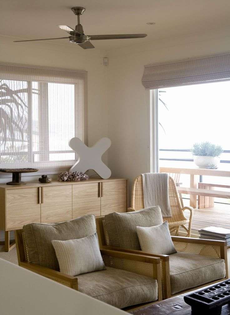 Living area with views to the sea. Brooke Aitken Design.