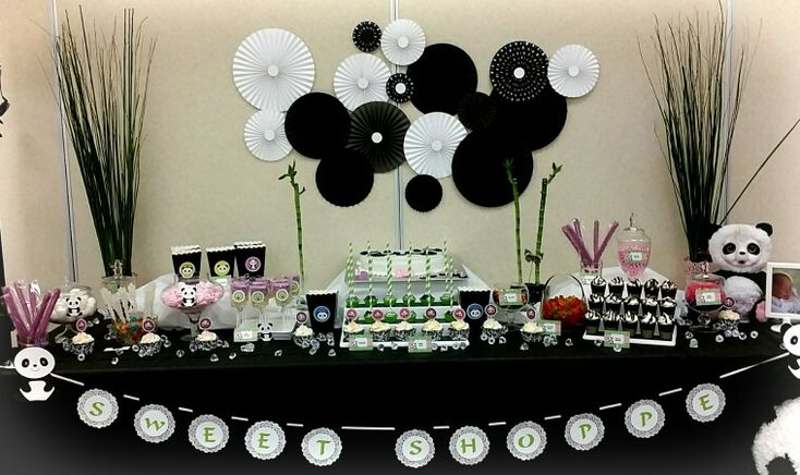 Panda theme candy/dessert table | candy buffet