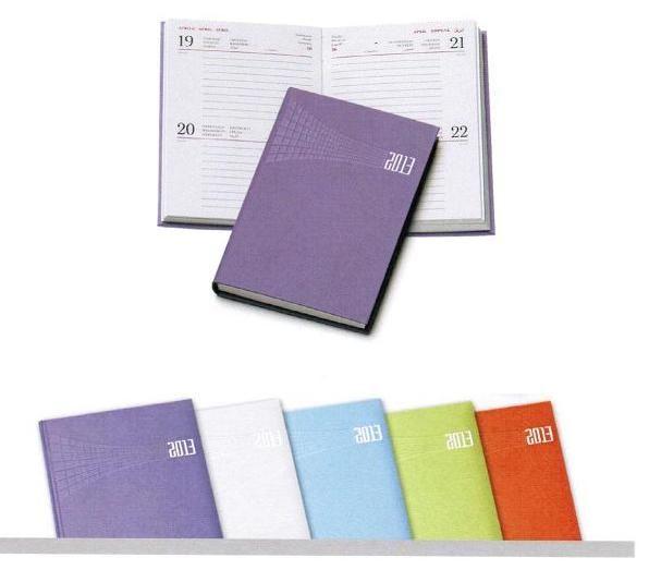 Agenda bigiornaliera tascabile in vari colori