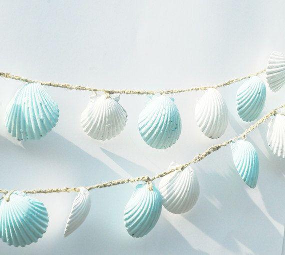 Coquillage Garland décorations de mariage de plage par Seagypsys, $25.00