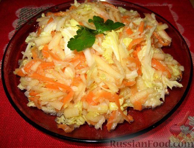 Салат пекинской капусты и стручковой фасоли
