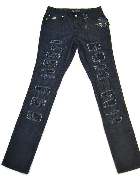 14.99 USD | Dereon Women's Dark Blue Ripped Rash Jeans - Beyonce - Sexy -  New With Tags! | #dereon #womens #ripped #beyonce #Minimalist #designer  #women ...