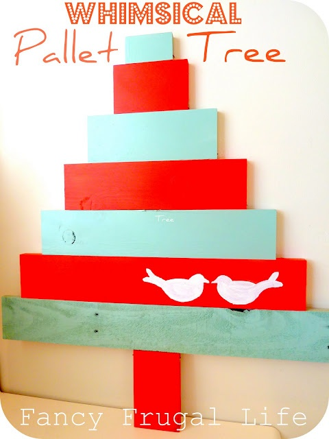 whimsical pallet tree