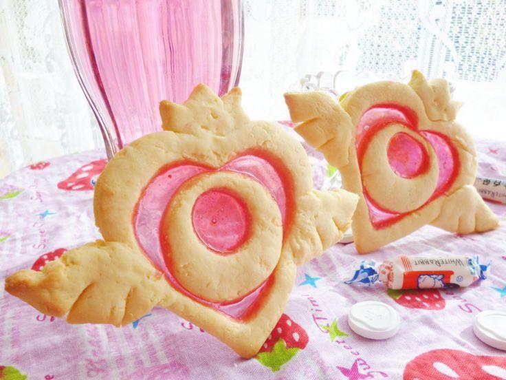 Sailor Moon's crystal heart as cookies!