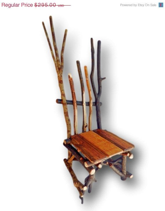 Cyber Monday Reclaimed Wood Chair Rustic Chair Cabin By WoodzyShop