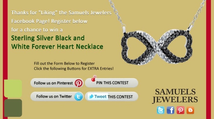 I just entered the Samuels Jewelers' 'Black Friday' Contest. Click this Pin to see how to enter to win a Sterling Silver Black