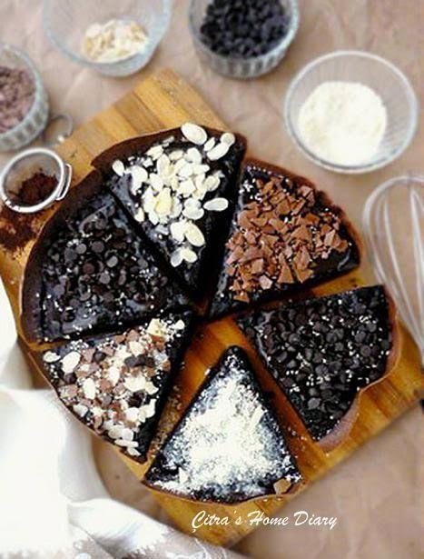 Citra's Home Diary: Martabak Manis Brownis (Indonesian style thick chocolate pancake)
