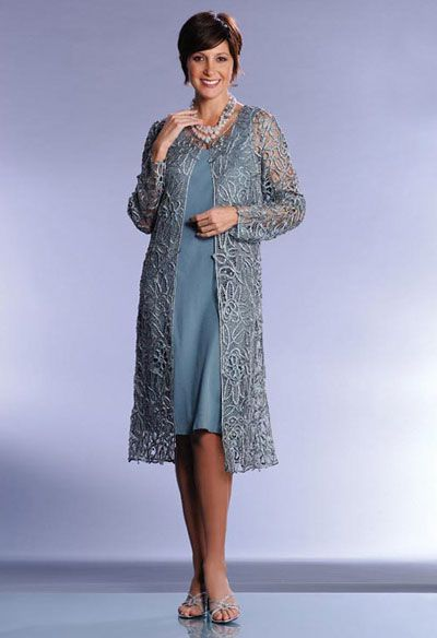 Soulmates Formal Duster C880 sheath with lacey long jacket. Love this.  Comes in 15 or more colors choices, cost is 200 bucks