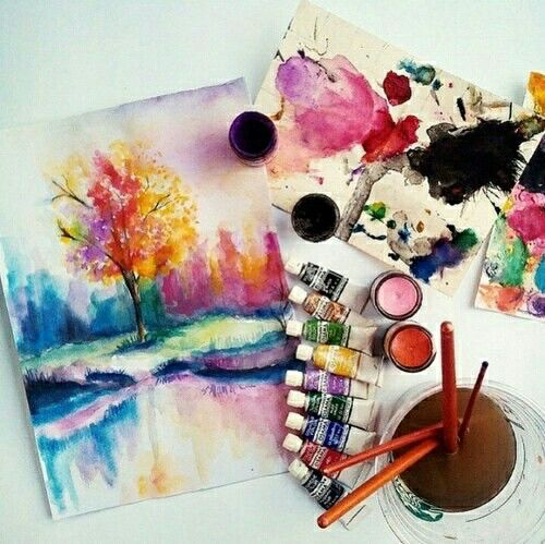 Lovely #watercolor #art #tagforlikes #color #L4L #F4F