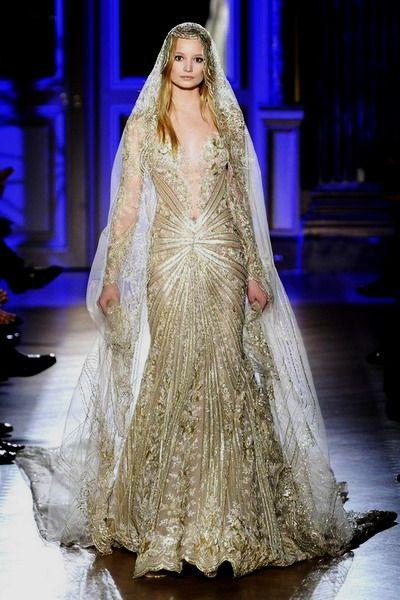 The 25 best Gold wedding gowns ideas on Pinterest Gold wedding