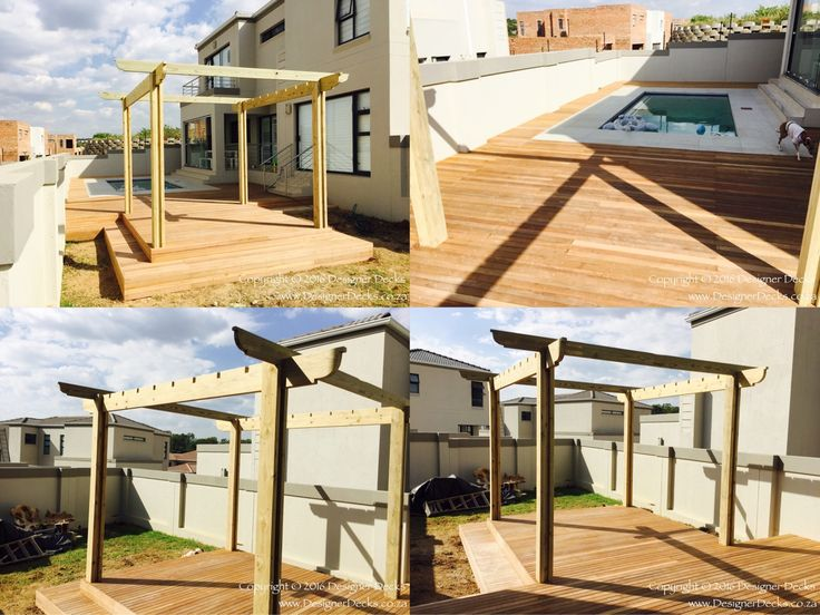 Decking and pergola during installation in Lone Hill