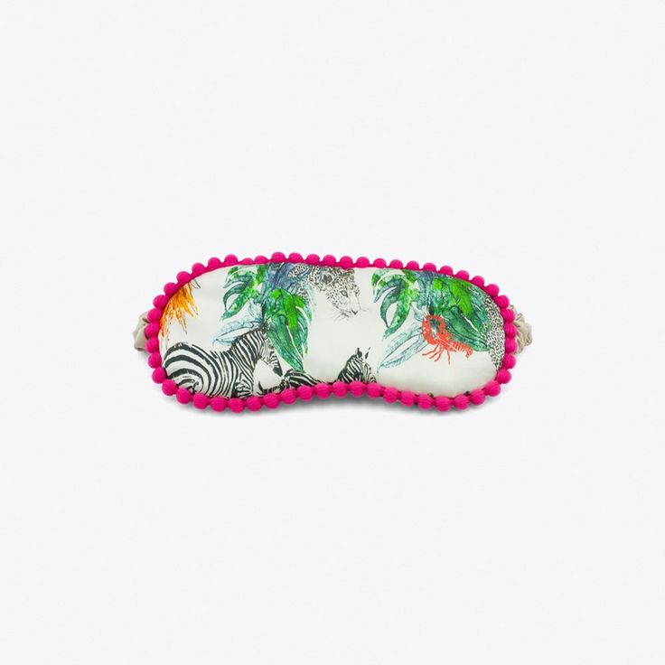 The Jungle Jungle Silk Sleep Mask By Jessica Russell Flint - Fy