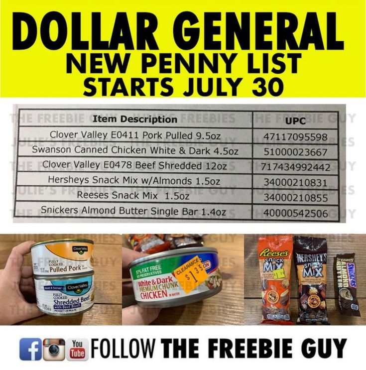 Dollar General Penny Shopping List 2020 Dollar general