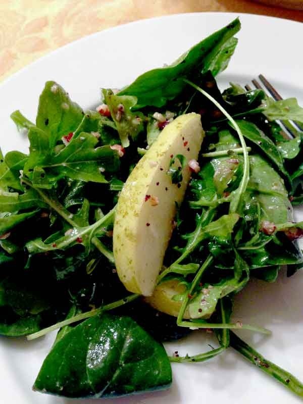 Pear and Poppy Seed Winter Mix Salad