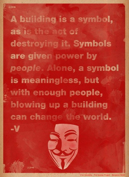 symbols v for vendetta A detailed description of the important objects and places in v for vendetta.