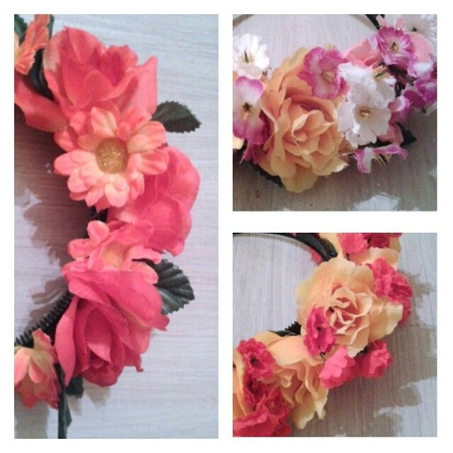 Vinchas con flores y tocados de novia.  #boda #vinchas #flowercrown #wedding #cotillon#weddingtime #boda