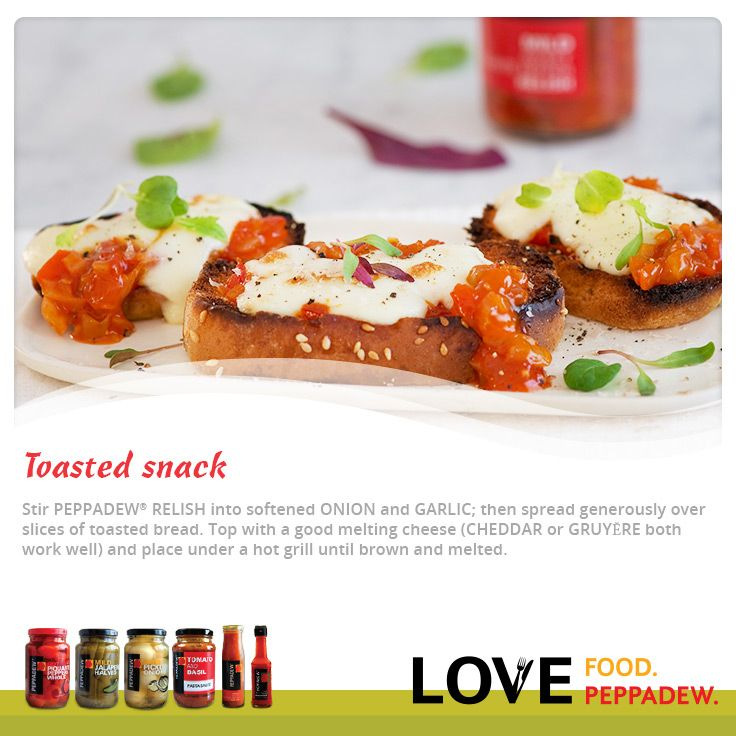 Here is a great starter for a delicious festive season with Peppadew®   Relish Tip #1