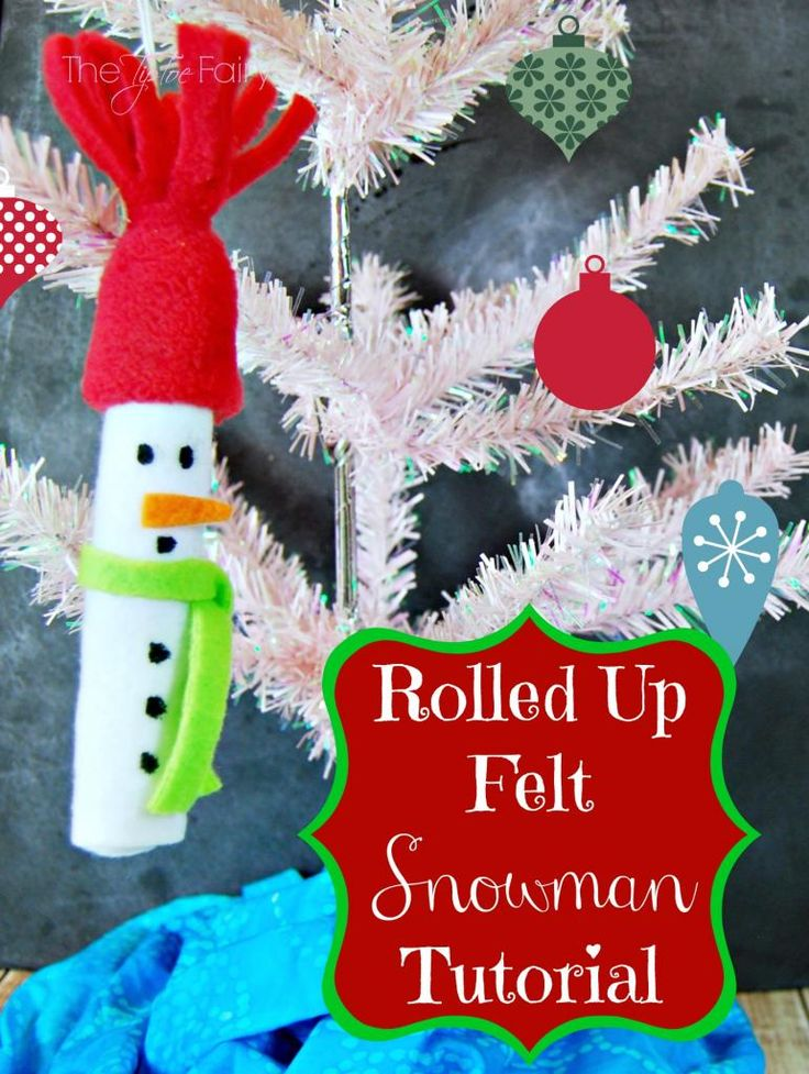Christmas in July Easy Felt Snowman Ornament