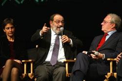 Io, Umberto Eco e Guido Rossi  Presentazione di LeG  Milano, 18 novembre 2002