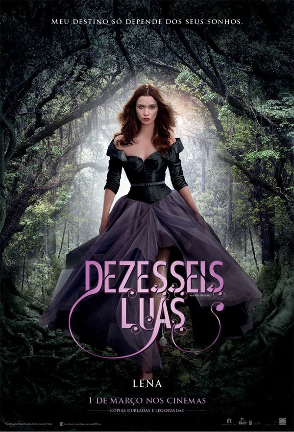 """""""Beautiful Creatures"""" in Portuguese """"Dezesseis Luas"""" (Translation: """"Sixteen Moons"""")"""