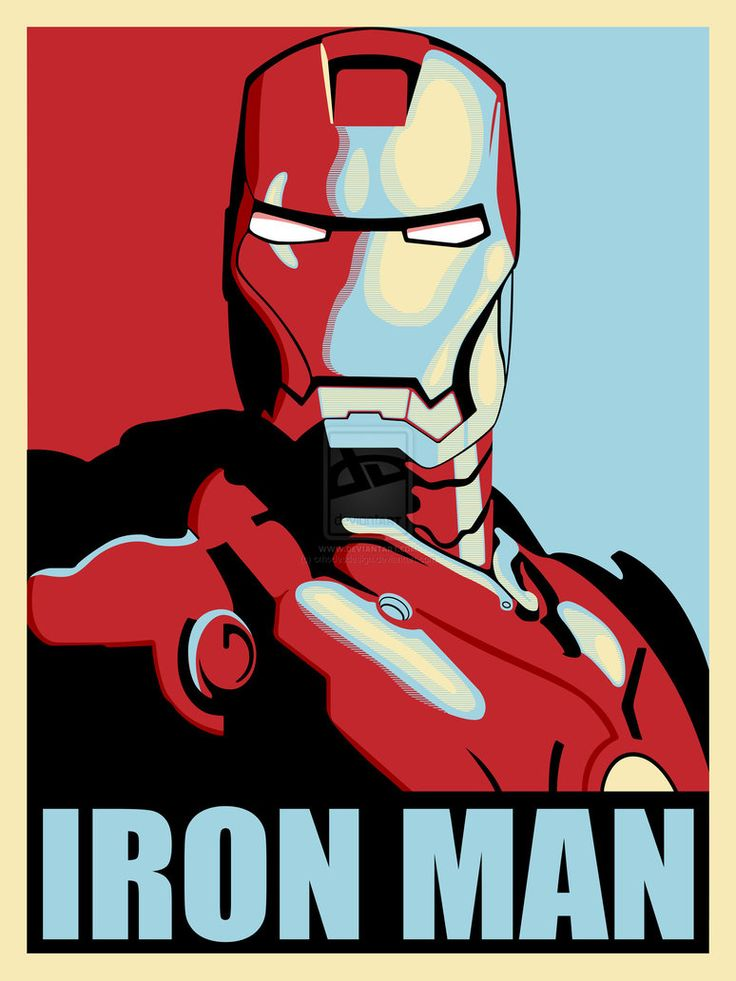 Shepard_fairey_inspired__by iron_man_2_movie_colours