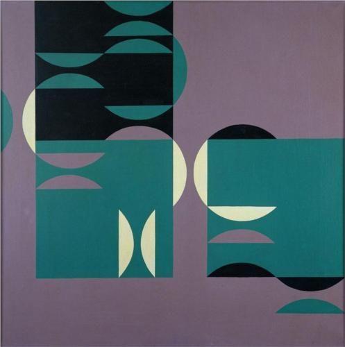 4 temas circulares, 1953 - Tomas Maldonado geometric purple aqua teal turquoise