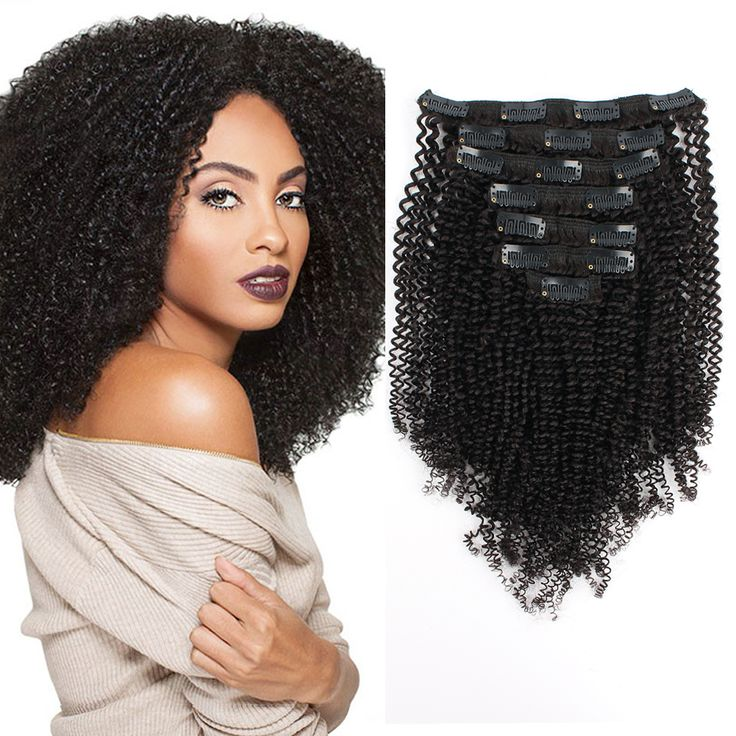 Amazing Beauty Hair Extensions Clip In Extension Afro Kinky CoilyUSE Discount Code LXABHE