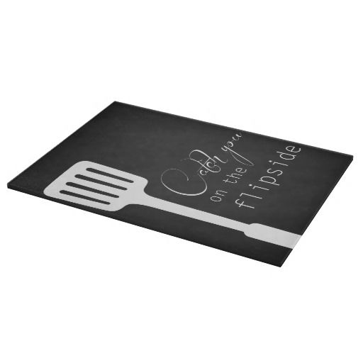 Catch you on the Flipside Glass Chopping Board