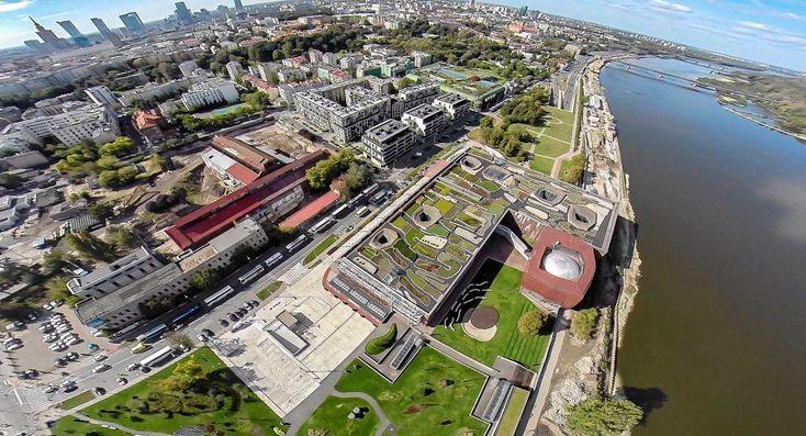 Polska: Centrum Nauki Kopernik, ogrody na dachu