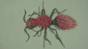 """Julie Skarland """" Angeline""""  stop motion video, embroidery"""