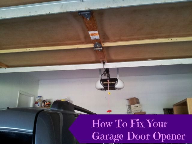How To Reattach Your Automatic Garage Door Opener Automatic Garage Door Automatic Garage Door Opener Automatic Garage
