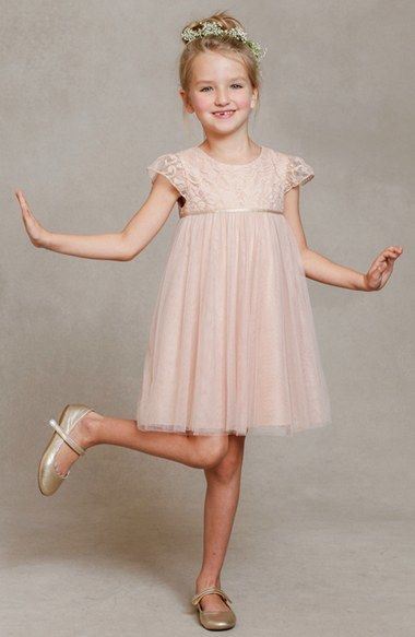 Jenny Yoo 'April' Lace & Tulle Dress (Toddler, Little Girls & Big Girls)