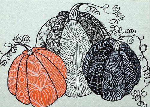 Zentangled Pumpkins