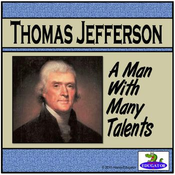 Thomas Jefferson PowerPoint is great for building background for Presidents' Day activities. A biography of Thomas Jefferson, our nation's 3rd President and author of the Declaration of Independence. From his early years to his passing, follow the impressive accomplishments and achievements of a great founding father.