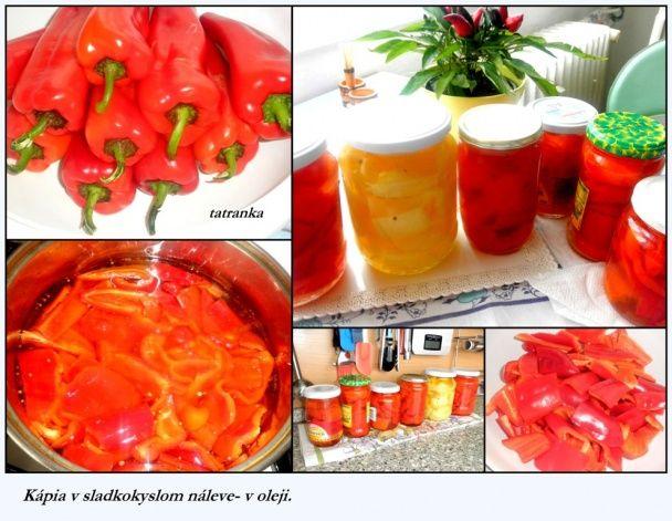 Kapia v oleji a sladkokyslom náleve bez sterilizácie (fotorecept) - obrázok 1