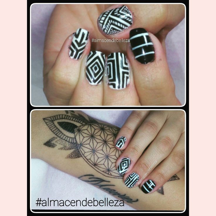 Black & white nailart