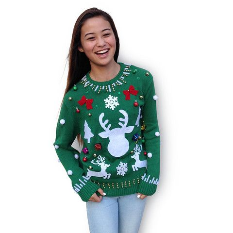Ugly Christmas Sweater Kit - Solid Green