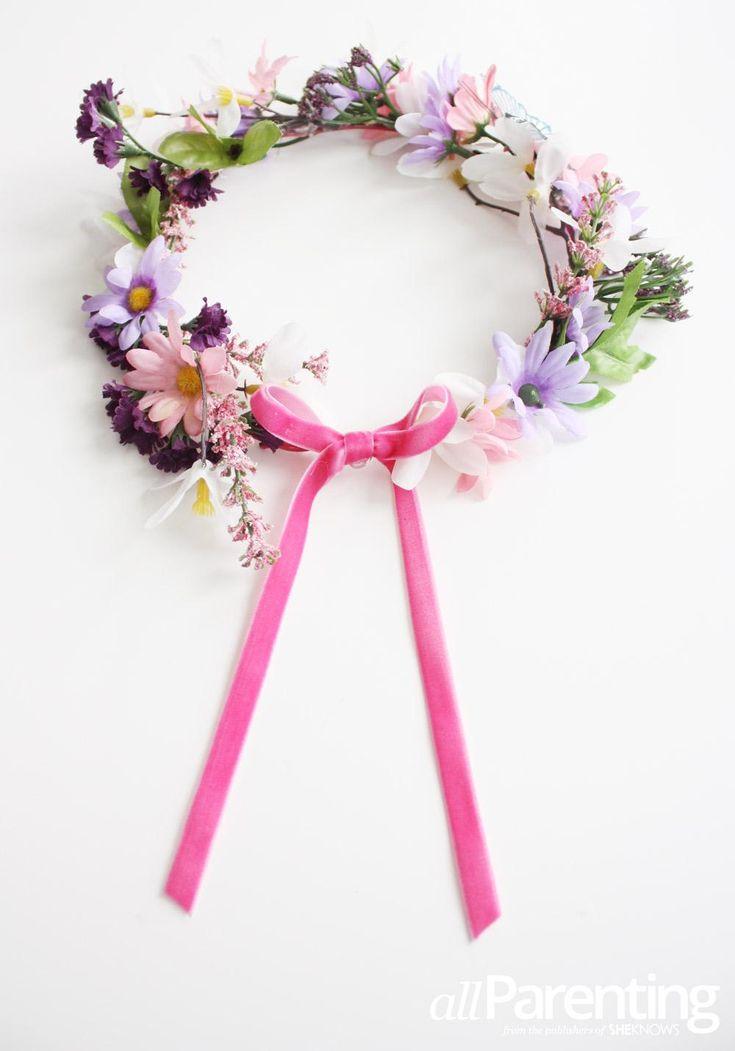 DIY Crown DIY Make a childrens fairy flower crown DIY Crown