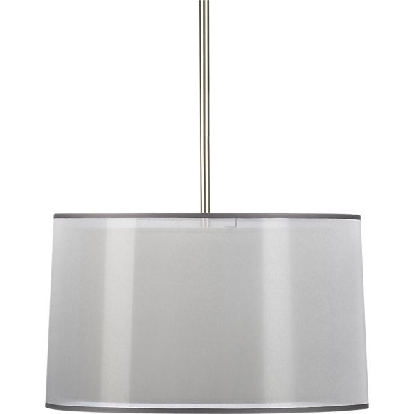 Eclipse Silver Pendant Lamp in Chandeliers, Pendants | Crate and Barrel