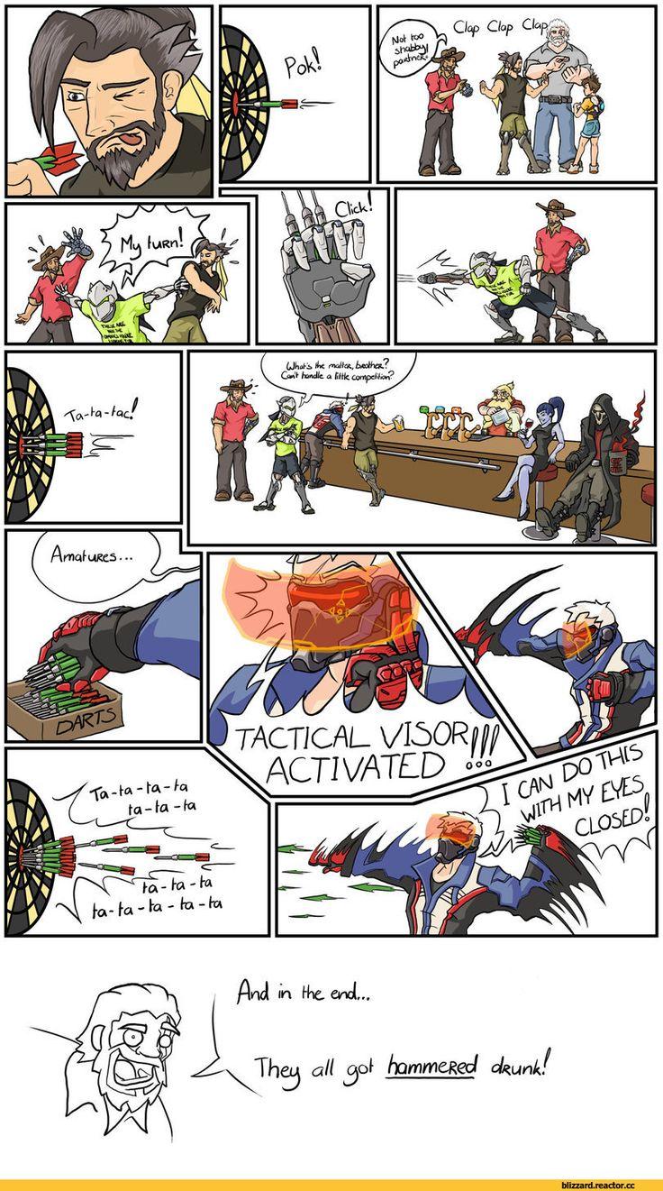 Blizzard,Blizzard Entertainment,фэндомы,Soldier 76,Overwatch,McCree,Hanzo,Genji (Overwatch),Reaper (Overwatch),Widowmaker,Torbjorn,Reinhardt,Overwatch Comics