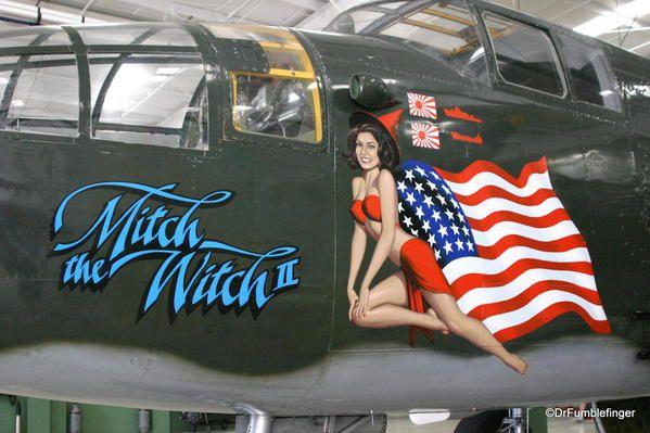 Palm Springs Air Museum. Curtiss P-40 Warhawk (Kittyhawk) aircraft