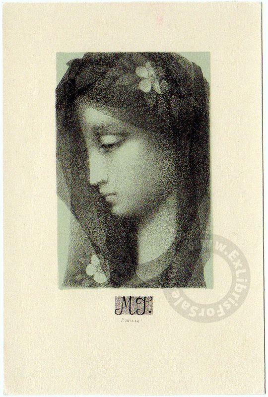 JIŘINCOVÁ Ludmila, Czech artist 1912-1994. - Ex Libris For Sale