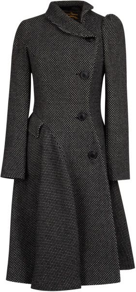Vivienne Westwood Anglomania Storm Coat in Black (white) - Lyst