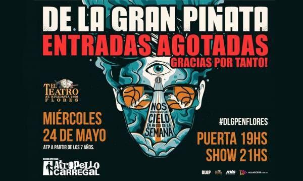 De la Gran Piñata celebra su primer miércoles en Teatro Flores con entradas agotadas