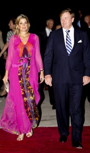 Queen Maxima in beautiful, vibrant outfit