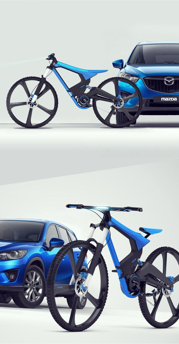 MAZDA X-bike by karol mizdrak. Yet another electric motorcycle, why pretend it's a bicycle?