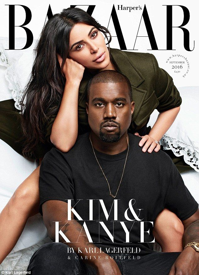 Kanye West praises wife Kim Kardashian's nude selfies in Harper's BAZAAR interview | Daily Mail Online