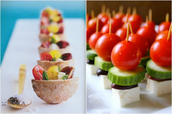 mini greek salads, mini pita pockets, mini foods, bite-size treats, Peter Callahan
