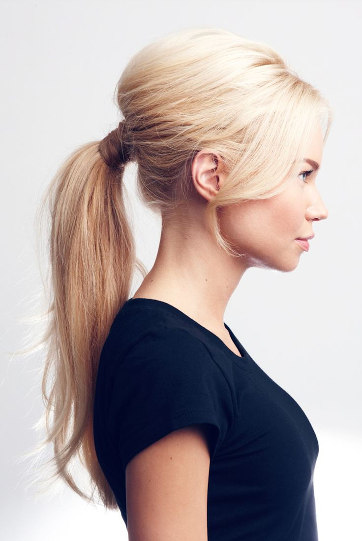 Daily va-va-voom: Instantly dress up your wear-to-work hairstyle with a wrap around ponytail.