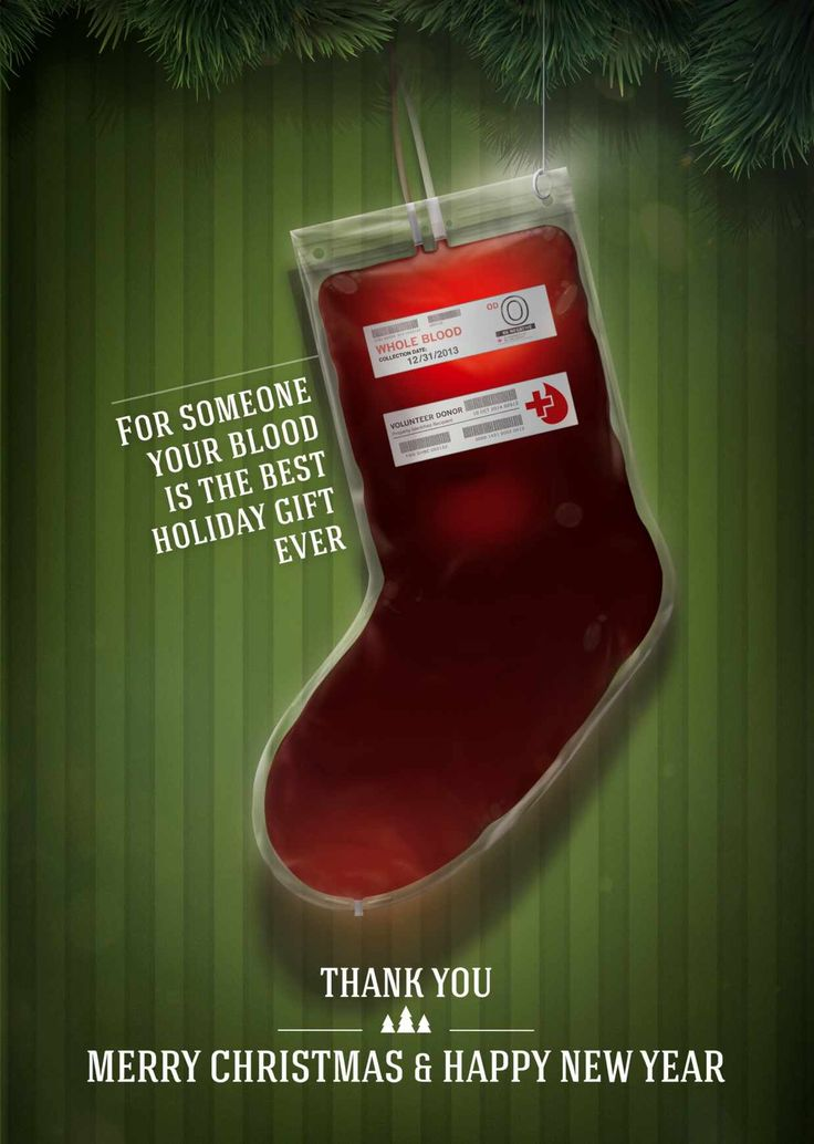 Looks like a regular stocking, but it's a bag full of blood. Good message, and imagery gets the point across well.